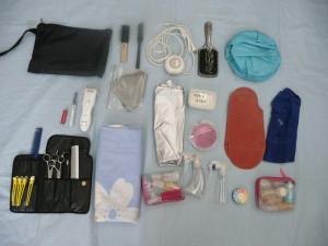 17、訪問美容の携帯小物用具